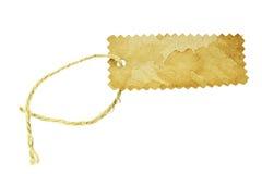 Etiqueta en blanco atada con la cadena. Fotos de archivo