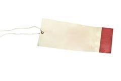 Etiqueta en blanco atada con la cadena marrón Foto de archivo