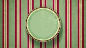 Etiqueta en blanco del círculo con las líneas animación plana ilustración del vector