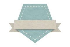 Etiqueta en blanco del emblema, diseño de papel para el web, etiquetas engomadas, etiquetas Imagenes de archivo