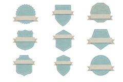 Etiqueta en blanco del emblema, diseño de papel para el web, etiquetas engomadas, etiquetas Imagen de archivo libre de regalías