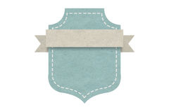 Etiqueta en blanco del emblema, diseño de papel para el web, etiquetas engomadas, etiquetas Foto de archivo