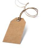 Etiqueta en blanco del precio o de la dirección aislada en blanco Fotografía de archivo libre de regalías