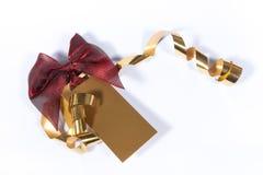 Etiqueta en blanco del regalo Imagen de archivo libre de regalías