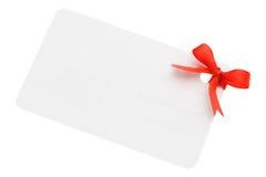 Etiqueta en blanco del regalo Fotografía de archivo libre de regalías