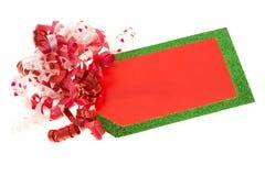 Etiqueta en blanco del regalo Imágenes de archivo libres de regalías