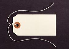 Etiqueta en el fondo marrón 2 Fotos de archivo libres de regalías