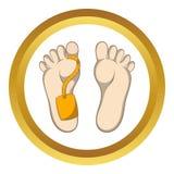 Etiqueta en icono muerto del vector ilustración del vector