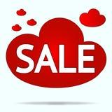 Etiqueta engomada aislada de la nube roja para la venta en tienda y más cl Foto de archivo libre de regalías