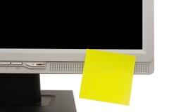 Etiqueta engomada amarilla Imagen de archivo libre de regalías