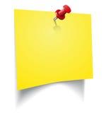 Etiqueta engomada amarilla Imágenes de archivo libres de regalías