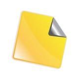 Etiqueta engomada amarilla de la peladura Imagenes de archivo