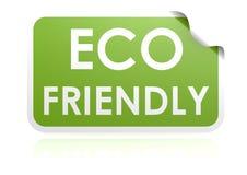 Etiqueta engomada amistosa de Eco Foto de archivo libre de regalías