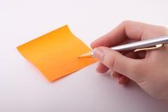 Etiqueta engomada anaranjada Imágenes de archivo libres de regalías