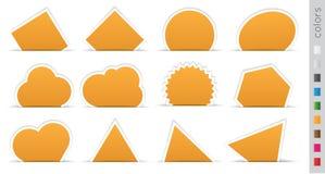 Etiqueta engomada anaranjada geométrica Foto de archivo libre de regalías