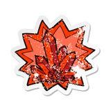 etiqueta engomada apenada retra de los cristales de una historieta libre illustration