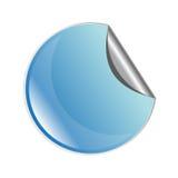Etiqueta engomada azul de la peladura Imágenes de archivo libres de regalías