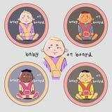 Etiqueta engomada 'bebé a bordo' Imagen de archivo libre de regalías