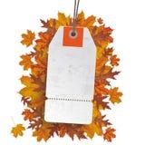 Etiqueta engomada blanca Autumn Sale del precio Imagen de archivo libre de regalías