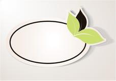 Etiqueta engomada cómoda de Eco, etiqueta oval Imagenes de archivo