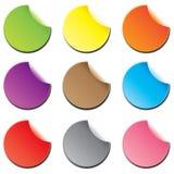 Etiqueta engomada colorida Fotografía de archivo