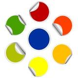 Etiqueta engomada colorida, conjunto del post-it ilustración del vector