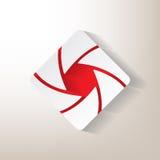 Etiqueta engomada con un diseño de la abertura ilustración del vector