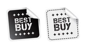Etiqueta engomada de Best Buy Ejemplo blanco y negro del vector libre illustration