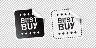 Etiqueta engomada de Best Buy Ejemplo blanco y negro del vector ilustración del vector