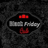 Etiqueta engomada de Black Friday Foto de archivo