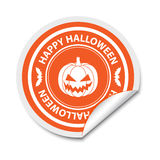 Etiqueta engomada de Halloween Imagen de archivo libre de regalías