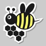 Etiqueta engomada de la abeja Fotografía de archivo libre de regalías