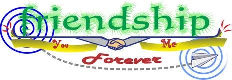 Etiqueta engomada de la amistad Imagenes de archivo