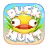Etiqueta engomada de la caza del pato ilustración del vector