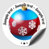 Etiqueta engomada de la chuchería de la Navidad Imagen de archivo