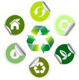 Etiqueta engomada de la ecología, icono ilustración del vector