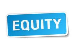 etiqueta engomada de la equidad stock de ilustración