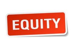 etiqueta engomada de la equidad ilustración del vector