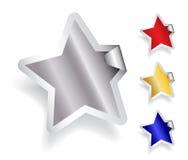 Etiqueta engomada de la estrella Fotografía de archivo libre de regalías