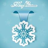 Etiqueta engomada de la Navidad Fotos de archivo libres de regalías