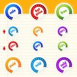 Etiqueta engomada de la venta Imagen de archivo libre de regalías