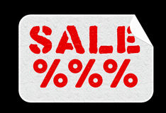 Etiqueta engomada de la venta Foto de archivo libre de regalías