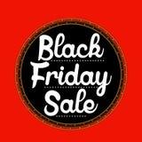 Etiqueta engomada de la venta de Black Friday Foto de archivo