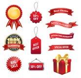 Etiqueta engomada de la venta de la etiqueta de la etiqueta Imagen de archivo libre de regalías