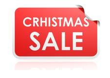 Etiqueta engomada de la venta de la Navidad Imágenes de archivo libres de regalías