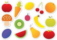 Etiqueta engomada de las frutas y verdura Imágenes de archivo libres de regalías