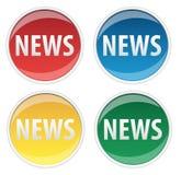 Etiqueta engomada de las noticias Fotos de archivo libres de regalías