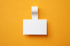 Etiqueta engomada de papel Fotos de archivo libres de regalías