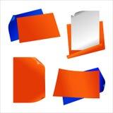 Etiqueta engomada de papel anaranjada Ilustración del Vector