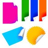 Etiqueta engomada de papel colorida Stock de ilustración